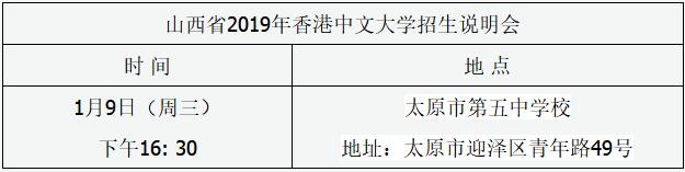 香港中文大学召开2019山西招生说明会