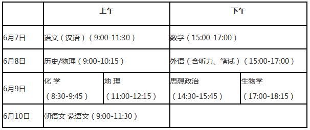 辽宁2021年高考时间